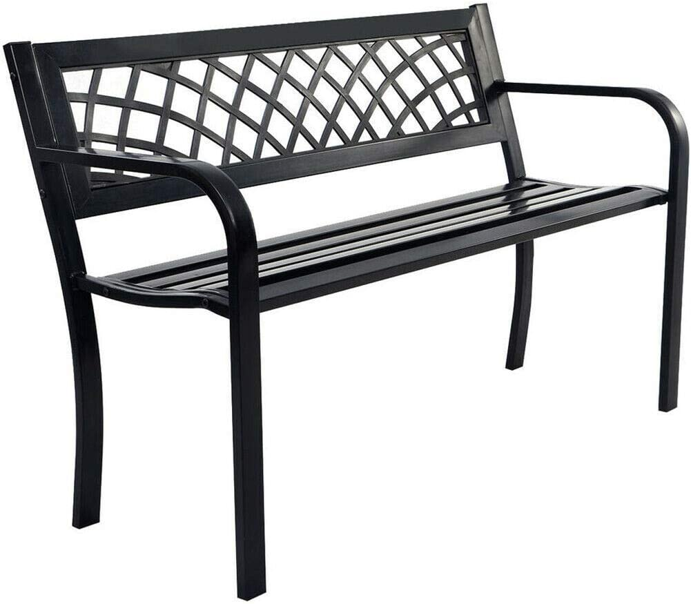 Patio Park Garden Bench Porch Path Chair Fram Deck 1 year warranty Steel Ranking TOP3 Outdoor
