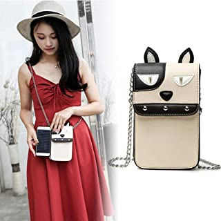 Small Leather Crossbody Cellphone Shoulder Bag, Womdee Lightweight Leather Phone Purse Small Crossbody Bag Mini Cell Phone Pouch Shoulder Bag Smart Phone Wallet Purse for Women Travel