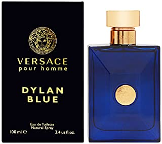 Versace Pour Homme Sealed Dylan Blue Eau de Toilette, Multi Citrus 3.4 Fl Oz