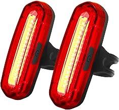JOFLY 100 Lúmenes Luz Bicicleta Trasera LED Roja/Azul[2 Paquetes], Luces Bici de USB Recargable con 6 Modos hasta 10 Horas de Autonomía