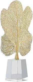 OMING Estatua de Mesa Cobre Arte Lucky árbol Adornos de Cristal Base Living Sala de Estudio Artesanía Decoración Oficinas ...