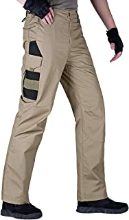 FREE SOLDIER Men's Tactical Pants Lightweight Water-Resistant Durable Cargo Pants Outdoor Hiking Fishing Duty Pants Multi-Pockets Pants