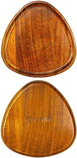 【天然素材】YOSHIKI良木工房木製 プレート 2本セット 丸形 卵型 お盆 ウッドプレートアカシア 天然木 割れにくい 軽量 食器 おしゃれ (卵型) YK-APB2