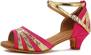 SWDZM Chaussures de Danse Fille,Chaussures de Danse Latine pour Femmes,Latine Tango Salsa Chaussures,Modèle FR-WHXGG