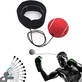 FTXJ Fight Ball Reflex With Head Band Boxing, Training and Fitness Equipment Great for Training to Improve Reactions and Speed