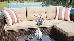 Amazon.com: SUNSITT - Sofá seccional para muebles de ...