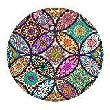 Dreamyam Alfombrilla de escritorio de 200 mm de diámetro, base de goma, multifuncional, antideslizante, bloque de escritura para oficina y hogar, con almohadillas lavables Multicolor 6 Talla única