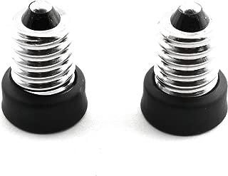 RuiLing 2-Pack E14 to E12 Lamp Holder Converters Bulb Socket Adapter Lampholder Conversion Socket