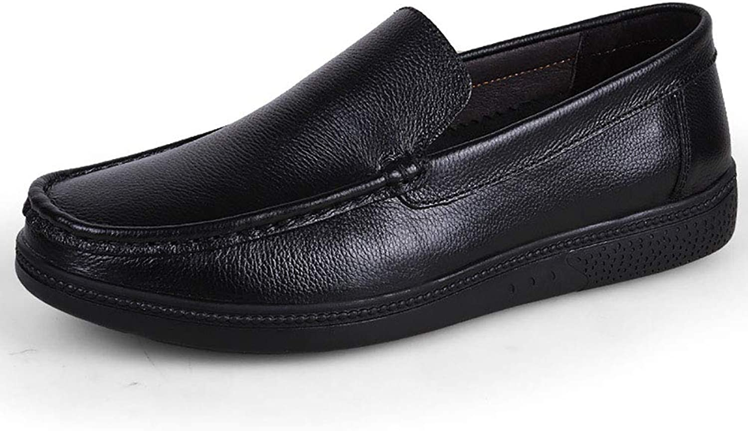 Men's shoes Cowhide Spring Fall Comfort Loafers Oxfords Walking shoes Waterproof & Slip-Ons Black Brown Party & Evening