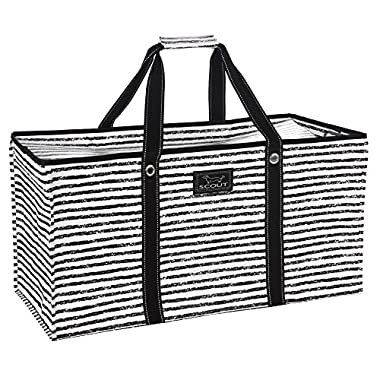 SCOUT Errand Boy Extra Large Tote Bag, For Grocery and Storage, Folds Flat, Reinforced Handles, Water Resistant, Chalk Back