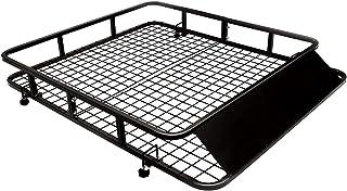 COSTWAY Portaequipajes de Coche Vehículo de Hierro Portaequipajes Techo Universal Carga hasta 75kg/122x102x15cm Negro