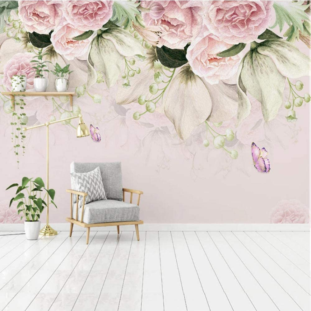 Pbldb Inexpensive Weekly update Custom Mural Wallpaper 3D Hand-Painted Style Nordic Flower