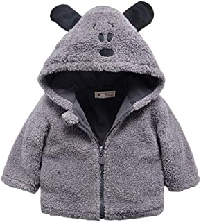Fairy Baby Toddler Baby Boys Winter Thick Outwear Cute Hood Fleece Jacket Outfit