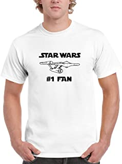 BBT Mens Star Wars #1 Fan Star Trek USS Enterprise T-Shirt Tee