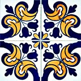 Mi Alma Pegatinas de Azulejos 24 Piezas Talavera Pegatinas de Pared Pegatinas de Pared Peel and Stick de fácil aplicación - Ideal para baño, Cocina Pared Azulejos Adhesivos