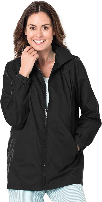 Woman Within Women's Plus Size Zip Front Nylon Jacket