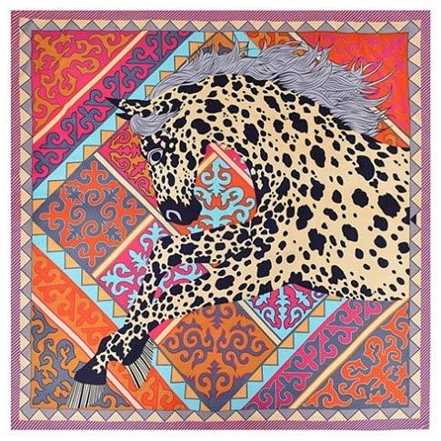 YDMZMS Marca 100% Sarga Bufanda de Seda Mujer póker Cuello de Caballo Envuelve Cuadrado Hembra Gran tamaño Chal Hijab pañuelo para el CuelloBorde púrpura