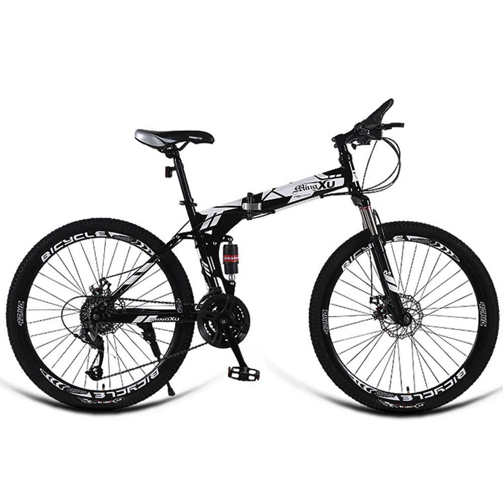 AQAWAS 24 Pulgadas de la Bici Adulta Plegable, 27 de Velocidad Guardabarros Delanteros y Traseros Plegable Compacto Bicicletas, Ideal para Montar a Caballo Urbana y los desplazamientos,White: Amazon.es: Hogar