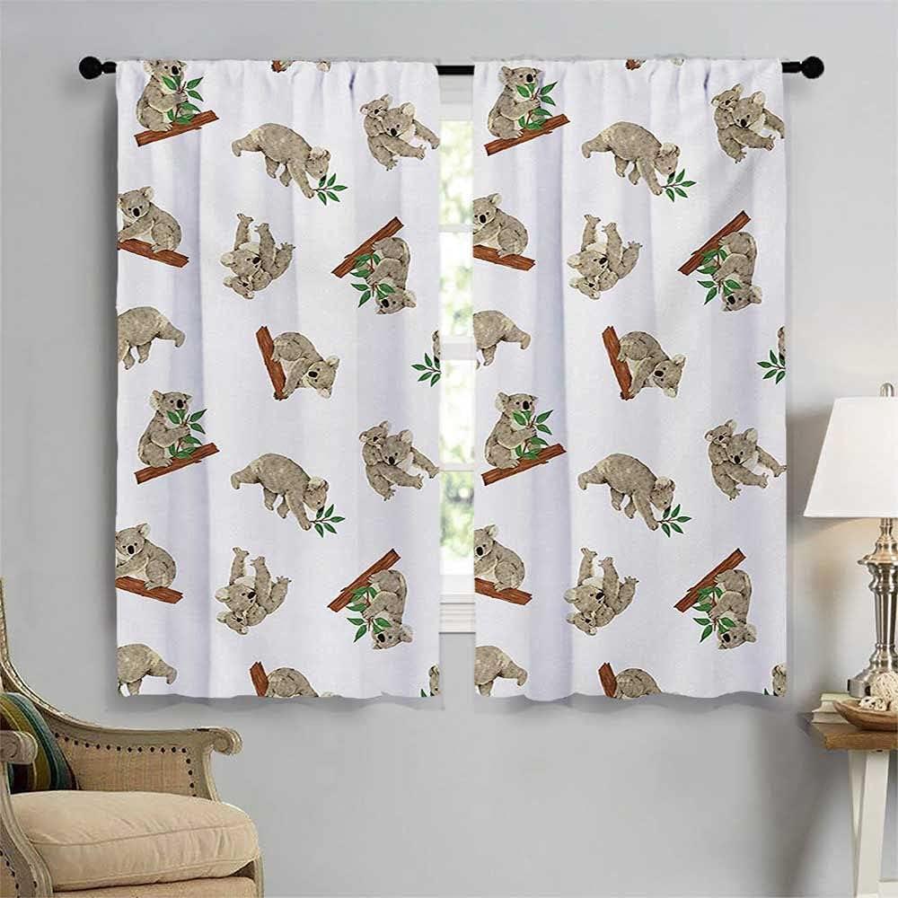Tropical Animals Blackout High quality Window Curtain Ma Design Pattern New Free Shipping Koala