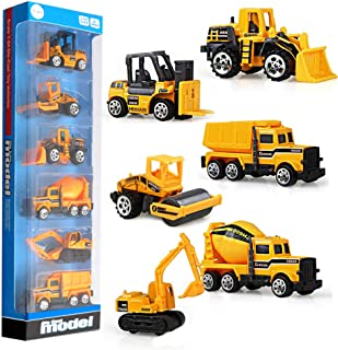 Construction Vehicles,Gimilife Kid Engineerin Toy Truck Cars 6 Pcs,Toddlers Friction Powered Push Mini Toy Cars,Assorted Play Vehicles Best Gift for Age 3 Years and Up Boys Girls