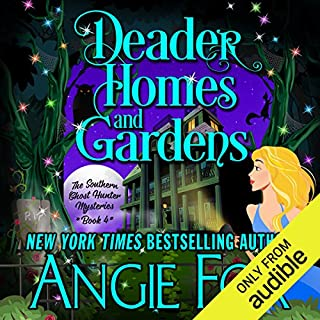 Deader Homes and Gardens                   Written by:                                                                                                                                 Angie Fox                               Narrated by:                                                                                                                                 Tavia Gilbert                      Length: 6 hrs and 43 mins     1 rating     Overall 4.0