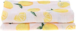 Prettyia Baby Swaddle Cute Muslin Blanket Baby Multi-use Blanket Infant Wrap - Lemon