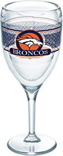 Tervis 1227699 NFL Denver Broncos Select Tumbler with Wrap 9oz Wine Glass, Clear