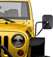 Door Off Mirror for Jeep Wrangler JK JL Rectangular Off-road Morror Side View Mirror, 2PACK