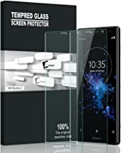 AVIDET Sony Xperia XZ2 Compact Screen Protector, 9H Hardness 0.3mm Ultra Slim Premium Tempered Glass Screen Protector for Sony Xperia XZ2 Compact (2 Packs)