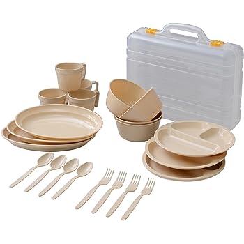 キャンパーズコレクション デイパーティー食器セット(4人用6種類) PCW-12(NA)ナチュラル PCW-12(NA)