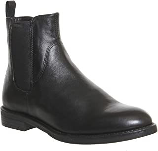 Amina Black Chelsea Flat Ankle Boots EU40 US9 UK7