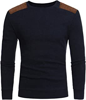 PASATO Man's Fashion Casual Round Neck Patchwork Men's Sweaters Tops Blouse Clearance Sale Coat Cardigan Sweatshirt