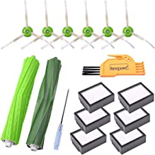 KEEPOW Replacement Parts for iRobot Roomba i7 E5 E6 E7 i7+/i7 Plus Vacuum Cleaner Accessories, 6 HEPA Filters, 6 Side Brus...