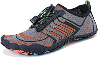 MAYZERO Water Shoes Men Women Swim Surf Shoes Beach Pool Shoes Wide Toe Hiking Aqua Shoes Winter House Slippers