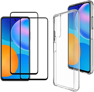 MARGOUN 3 Pack for Huawei Y7a Case Cover with Screen Protector also Compatible with Huawei P smart 2021 (6.67 inch)