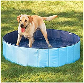 N&M Products Foldable Dog Pool - Folding Dog/Cat Bath Tub - Collapsible Pet Spa