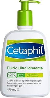 Cetaphil, Fluido Ultra Idratante, Adatto a Viso e Corpo per Pelle Secca o Molto Secca, Formato 470 ml