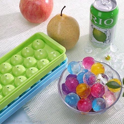 Bolange 14 Fach 2 Stück Eiswürfelschale mit Deckel Kühler Aufbewahrung, Whisky-Eisball Einfache Freigabe von Eiswürfeln, Silikonform, BPA-freie Farbe zufällig