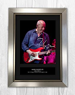 Mark Knopfler - Dire Straits 2 MT - Signed Autograph Reproduction Photo A4 Print(Silver Frame)