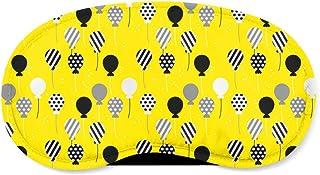 Party Balloons Yellow - Sleeping Mask - Sleeping Mask