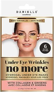 Danielle Wrinkles No More Hydrogel Undereye Masks, 6 Pairs, Collagen & Ginseng, 6 Piece