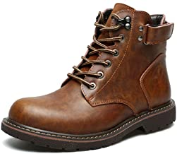 Mens Retro British Style Autumn Winter Lace Up Martin Ankle Boot Work Hiking Trail Biker Shoes