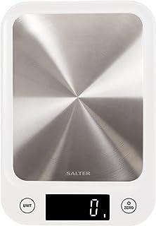 Salter 1105 SSWHDR White 5kg Stainless Steel Digital Kitchen Scale