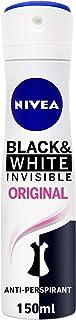 بخاخ مزيل العرق انفيزيبل بلاك اند وايت للنساء من نيفيا - 150 مل