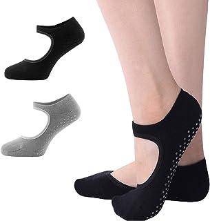 2 Pares de Calcetines de Yoga para Mujeres, Calcetines Antideslizantes, Yoga, Pilates, Bikram, Ballet, Ejercicio, Actividades de Estudio