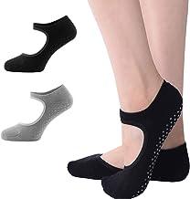 Vockvic 2 Paar Antislip Yogasokken, Antislip Sokken, Perfect voor Yoga, Pilates, Bikram, Ballet, Fitness, Studio-activiteiten