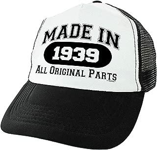80th Birthday Gifts Made in 1939 All Original Parts 80 Birthday Hat Funny Birthday Trucker Hat
