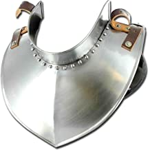 Medieval Armour Renaissance Standing Collar Steel Gorget Lether Strap