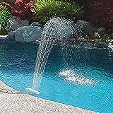 Fontana Cascata Spruzzatore Pool Water Fun Fun Spray Regolabile Sprinkler Pool Decor Fontana Dello Stagno Telaio Above Ground Stagno Spruzzatore Per Giardino Piscina