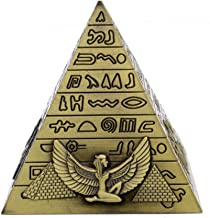 CUIAIDING statue Metal Egyptian Pyramids Figurine Pyramid Building Statue Home Office Desktop Decoration Gift Miniatures from Home & Garden